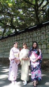 In front of Meiji-Shrain Sake