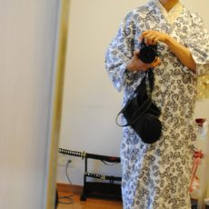 .Size check for women's Yukata for sleeping